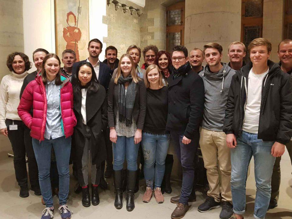 Ratshausbesuch junge grünliberale glp mit Michael Köpfli