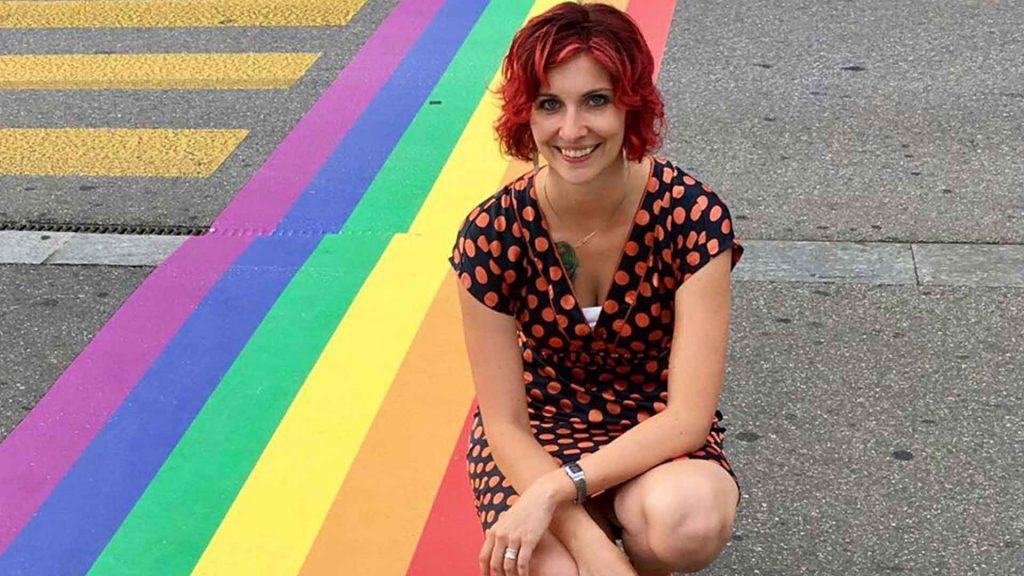Barbara Stucki im OK-Team der Pride Ouest 2017